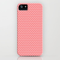 Tangerine Chevron iPhone & iPod Case by Laura Santeler