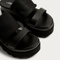 UO Duo Cleated Flatform Sandals | Urban Outfitters
