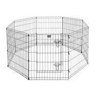 """Pet Trex 24"""" Exercise Playpen for Dogs Eight 24"""" x 30"""" High Panels with Gate"""
