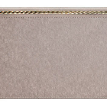 Leather Privacy Clutch, Nude, Clutches & Evening Bags