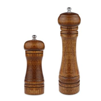 LemonBest Salt And Pepper Grinder Hand Movement Oak Wood Pepper Mill With Ceramic Grinding Cord Kitchen cooking tools 5/8 inch
