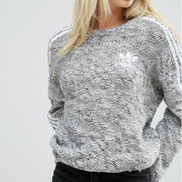 Adidas Originals Winter Hedging Chunky Knit Stripe Women Sweater