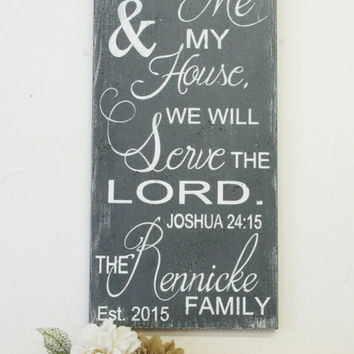 As For Me And My House We Will Serve The Lord Wood Sign Wedding Gift Bridal Shower Gift Anniversary Gift Housewarming Gift Christian Wallart