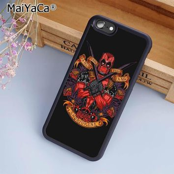 MaiYaCa Marvel Avengers Deadpool Phone Case Cover For iPhone 4 5 5s SE 6 6s 7 8 plus 10 X Samsung Galaxy S6 S7 S8 edge note 8