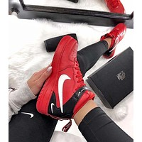 Nike Air Force 1 '07 New Fashion Leisure High-Top Sneakers Women Men Shoes Red