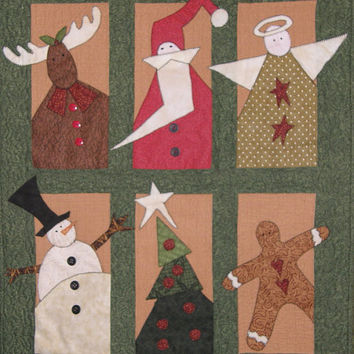 Signs of Christmas Quilted Wallhanging