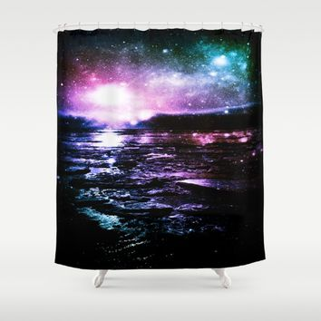 Mystic Waters Cool Tone Ombre Shower Curtain by 2sweet4words Designs