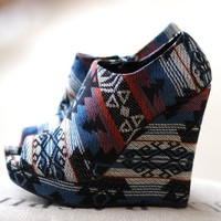 My Favorite Aztec Wedges (Blue)