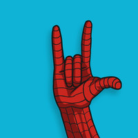 Spiderman Hand Art Print by MONDOBITGO | Society6