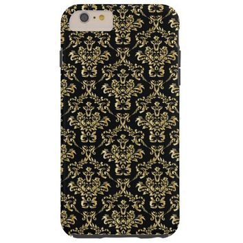 Trendy Black and Gold Damask iPhone 6 Case