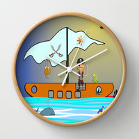 The Pirate Wall Clock by LoRo  Art & Pictures