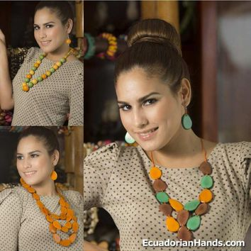 Pack Necklaces and earrings - TaguaJewelry Handcrafted Tropicolor