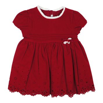 Mayoral Baby Girls' Maroon Flannel Dress