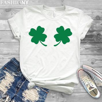 MORE STYLES! Chest Clovers St Patricks Day, Funny Graphic Tees, Tank-Tops & Sweatshirts