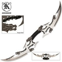 Six Dragon Head Double Blade Sword