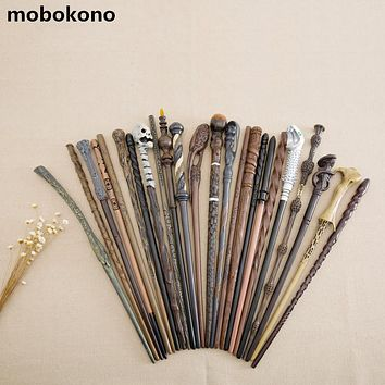 2017 New Arrive Metal Iron Core Cosplay Malfoy Dumbledore Hermione Voldemort Wand Harry Potter Magic Wand Gift Box Packing