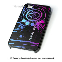 Blink 182 Colorfull Logo iPhone 4 4S 5 5S 5C 6 6 Plus Case , iPod 4 5 Case , Samsung Galaxy S3 S4 S5 Note 3 Note 4 Case , and HTC One X M7 M8 Case