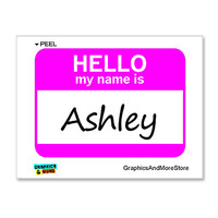 Ashley Hello My Name Is Sticker