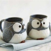 VivaTerra - Owl Mugs and Tea Set - VivaTerra