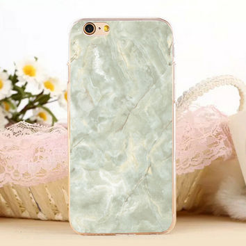Green Marble Stone Protect iPhone 5s 6 6s Plus creative case + Gift Box-131