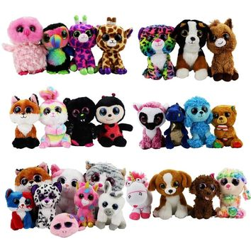 Ty Beanie Boos Plush Baby Toys Beanie Babies Unicorn Owl Pink Dolphin Turtle Penguin Dragon Dog Animals Soft Baby Dolls