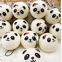 Jumbo Panda Squishy Charms Kawaii Buns Bread Cell Phone Key/Bag Strap Pendant Squishes Bag Parts & Accessories 4 cm