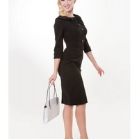 CEO Pencil Dress in Black (PREORDER ONLY)