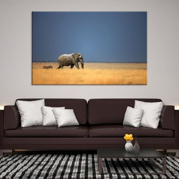 60415 - Wild Elephant Wall Art Canvas Print