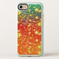 Golden Stars and Circles on A Gradient Background OtterBox Symmetry iPhone 8/7 Case