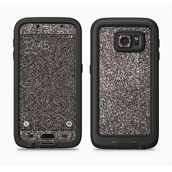 The Black Glitter Ultra Metallic Full Body Samsung Galaxy S6 LifeProof Fre Case Skin Kit