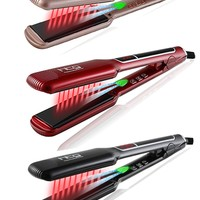 HTG Professional Hair straightener iron Flat Negative ion ionic Hair Straightening +lcd infrared Technology HT087L Wide plates