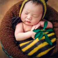 Bumble Bee Knit Baby Hat Outfit Set Newborn Baby Photo Prop - CCA47