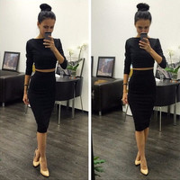 Celeb Bandage Dress 2 Piece Set Party Dresses