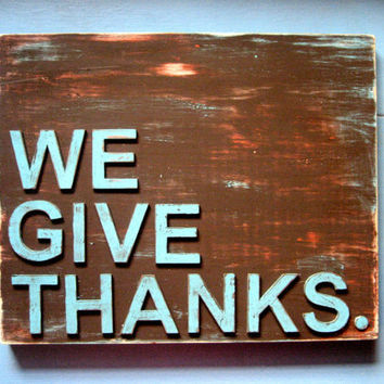 Thanksgiving Decor - Fall Decor - Thanksgiving Sign - Give Thanks Sign - Thanksgiving - Rustic Wood Sign - Fall Sign