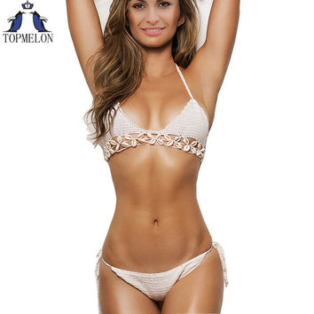 crochet bikini   women swimsuit Bathing Suit crochet swimwear biquini crochet female swimwear bodysuit bikini set brazilian