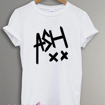5 sos shirt ashton irwin ash logo shirt tshirt t-shirt tee shirt printed black and white color unisex size