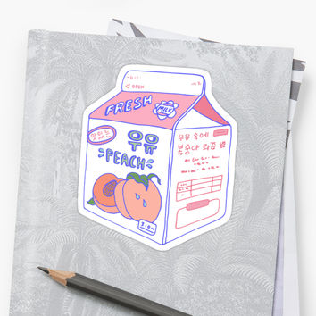 'Peach Milk Carton' Sticker by LauraOConnor
