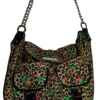 Betsey Johnson Cheetah Baby Natural Cargo Back Pack Bag Purse