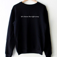 Let's Dance The Night Away Oversized Sweater - Black