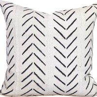 Test2 Chevron Arrow Print African Mud Cloth Pillow Cover