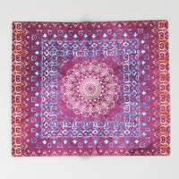 Old Bookshop Magic Mandala Throw Blanket by Octavia Soldani | Society6