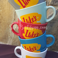 Luke's Diner Inspired Big Mug - logo on BOTH sides