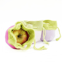 Apple Cozy Crochet  Apple Cozy Neon Pink Light Pink Lilac