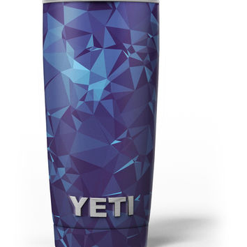 Royal Blue Abstract Geometric Shapes Yeti Rambler Skin Kit