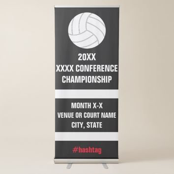 Volleyball Conference Championship Tournament Sign Retractable Banner