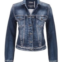Silver Jeans ® Medium Wash Denim Jacket - Medium Sandblast