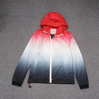 Moncler gradient thin jacket hooded trench coat