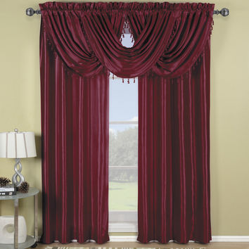 Burgundy Soho Waterfall Window Treatment