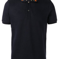 Gucci Embroidered Collar Polo Shirt - Farfetch