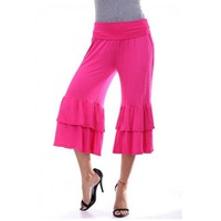 Gold Hands Summer Plus Size Women Casual Loose Harem Pants Wide Leg Palazzo Culottes Stretch Trouser Female Clothing